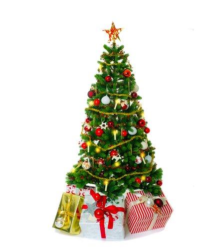 Foto-Leinwand ohne Rahmen - Weihnachtsbaum Geschenke (von drubig-photo)
