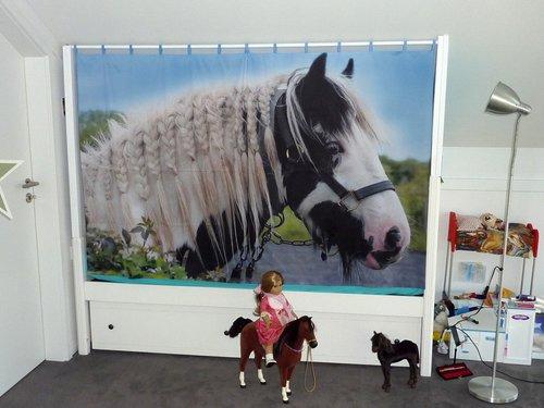 Vorhang mit Pferdemotiv für Kinderzimmer