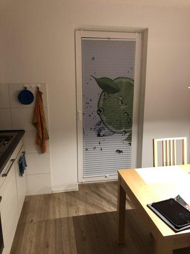 Plissee Küche mit Limette